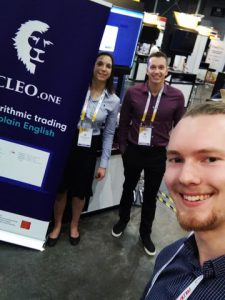 CLEO.one team at Fintech festival in Singapore