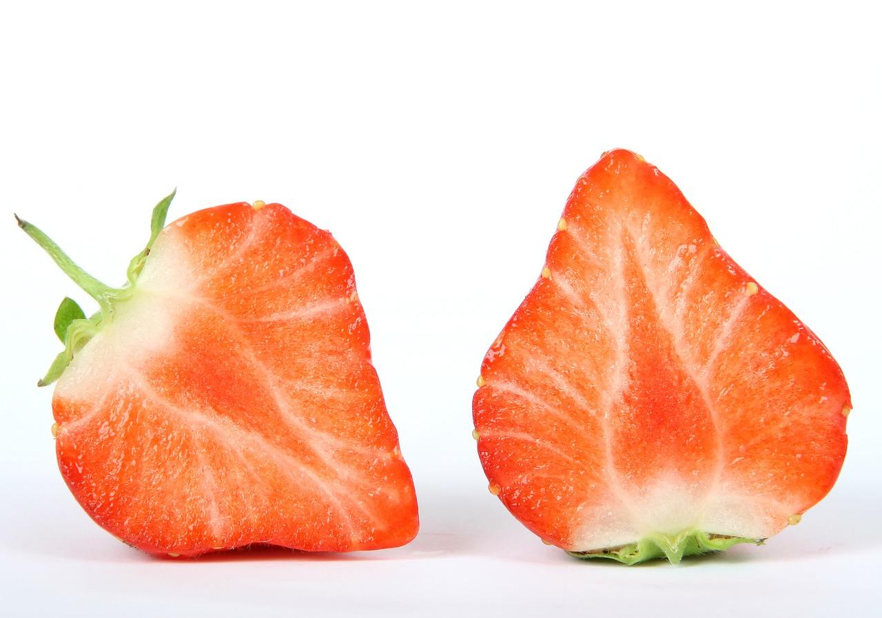 Berry cut in half as a btc block
